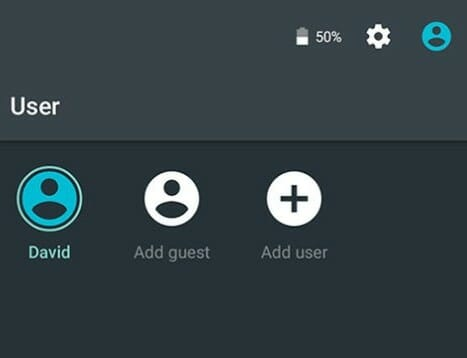 Android Lollipop Add Guest