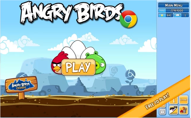 Angry Birds Game for Google Chrome