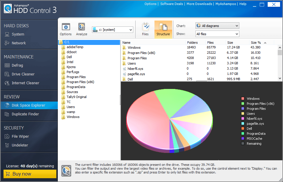Ashampoo HDD Control 3 Disk Space Explorer