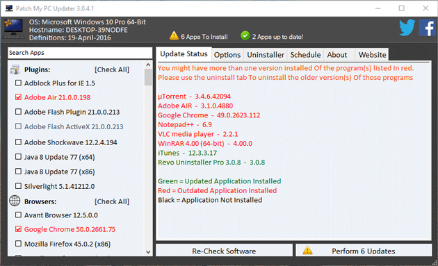 Auto Update apps in Windows using Patch My PC