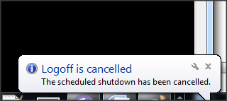 Automatically shut down your Windows PC_LogOff Cancelled