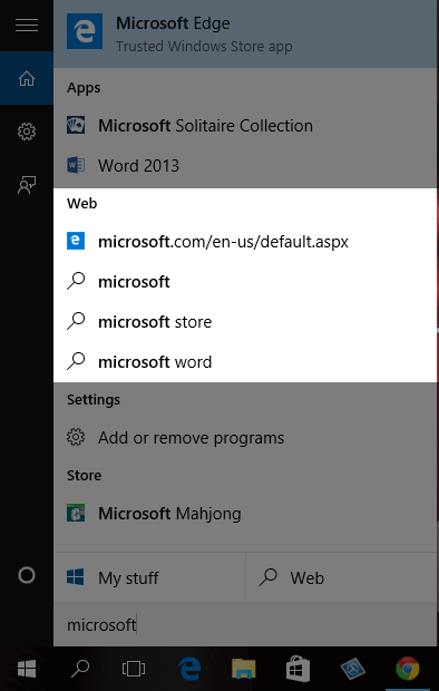 Set Google as Default Search in Cortana for Windows 10