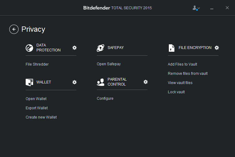Bitdefender Total Security 2015 Privacy
