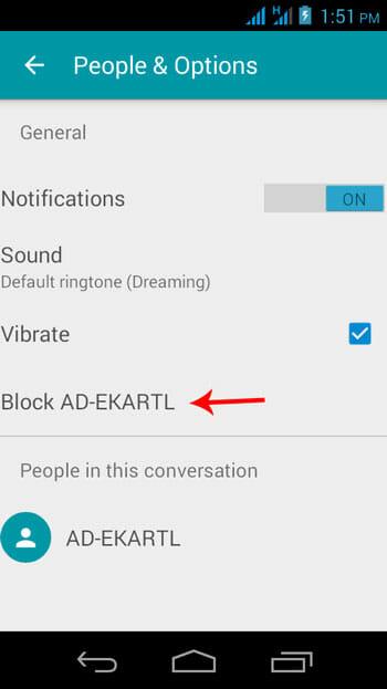 Block Contact in Messenger