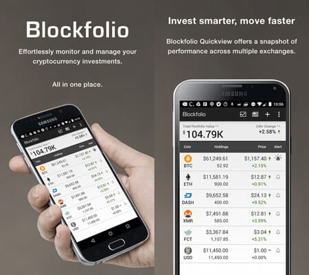 Blockfolio Bitcoin Cryptocurrency Management Apps for Android and iOS