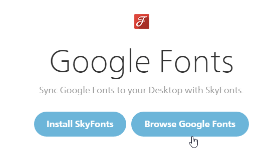 Browse Google Fonts in SkyFonts