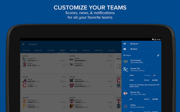 CBS Sports app for Android