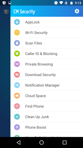 CM Security AppLock AntiVirus features
