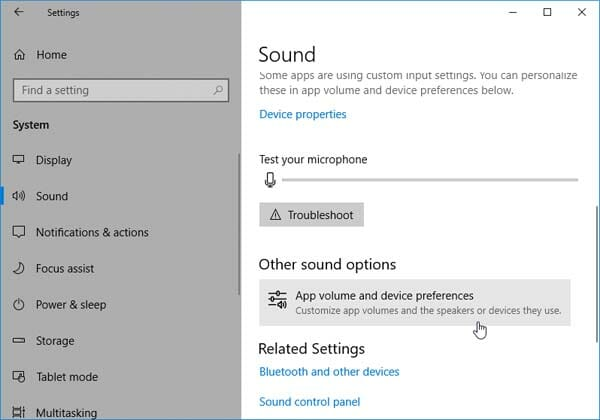 Change Sound Output Per Apps