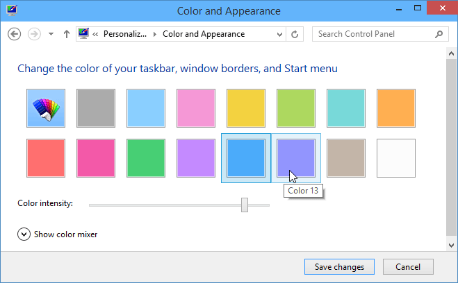 Change Background Color of Start Menu