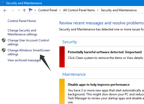 Change Windows SmartScreen Settings