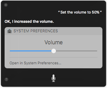 Change volume 10 Things You Can Ask to Siri on macOS Sierra