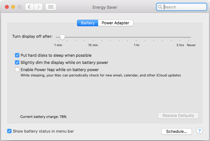 Check Energy Saver Improve MacBook Battery Life