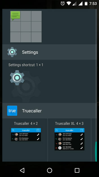Choose Settings as Android notifications