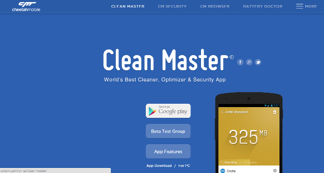 Clean Master Website