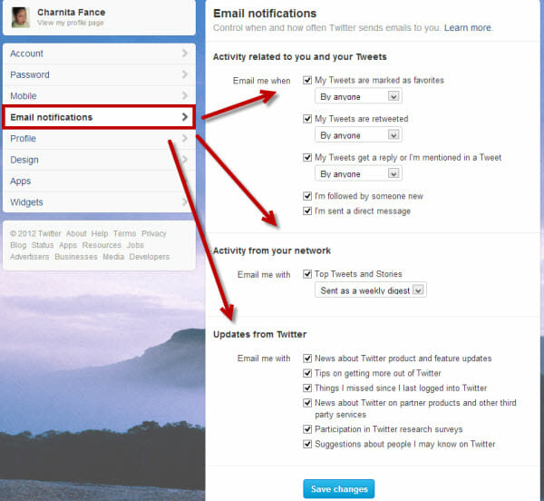 Clean up your email notification on Twitter.