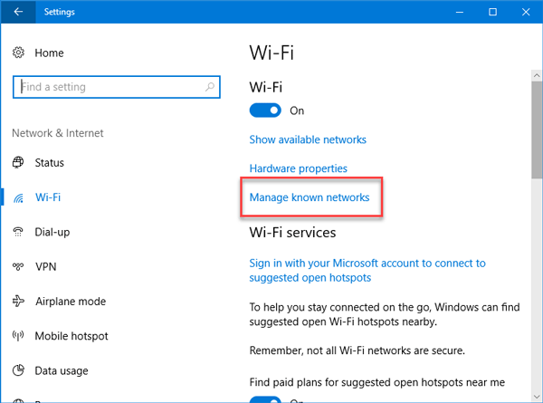 Connect to Hidden WiFi Network in Windows 10