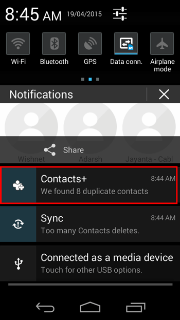 Contact Plus Duplicate Contacts