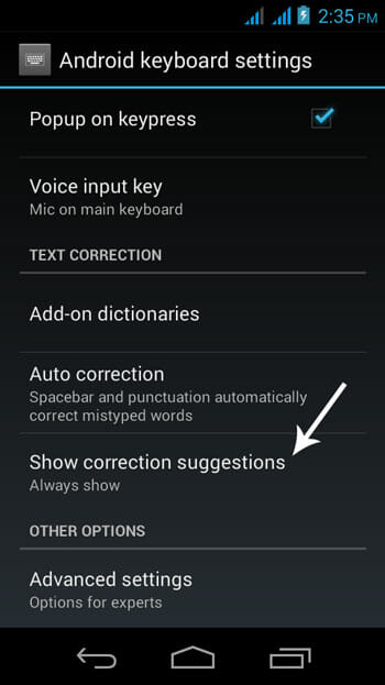 Correcion-Suggestion-on-Android