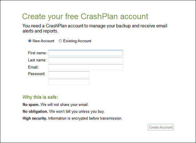 Create-CrashPlan-account