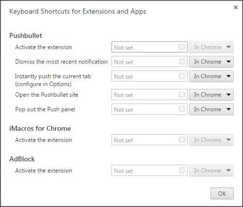 Create Custom Short cuts in Google Chrome