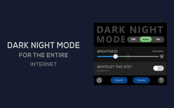 Dark Night Mode Best Mozilla Firefox add-on to enable dark mode