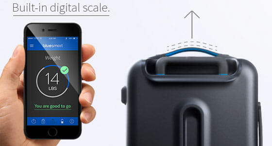 Digital Scale in Bluesmart