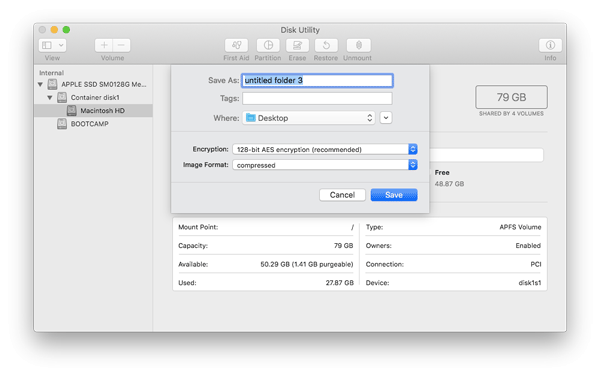 Disk utility Best Mac Apps to Encrypt File and Folder