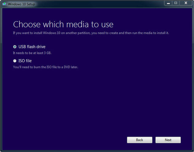 Download ISO file of Windows 10
