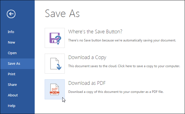 Download Edited File As PDF
