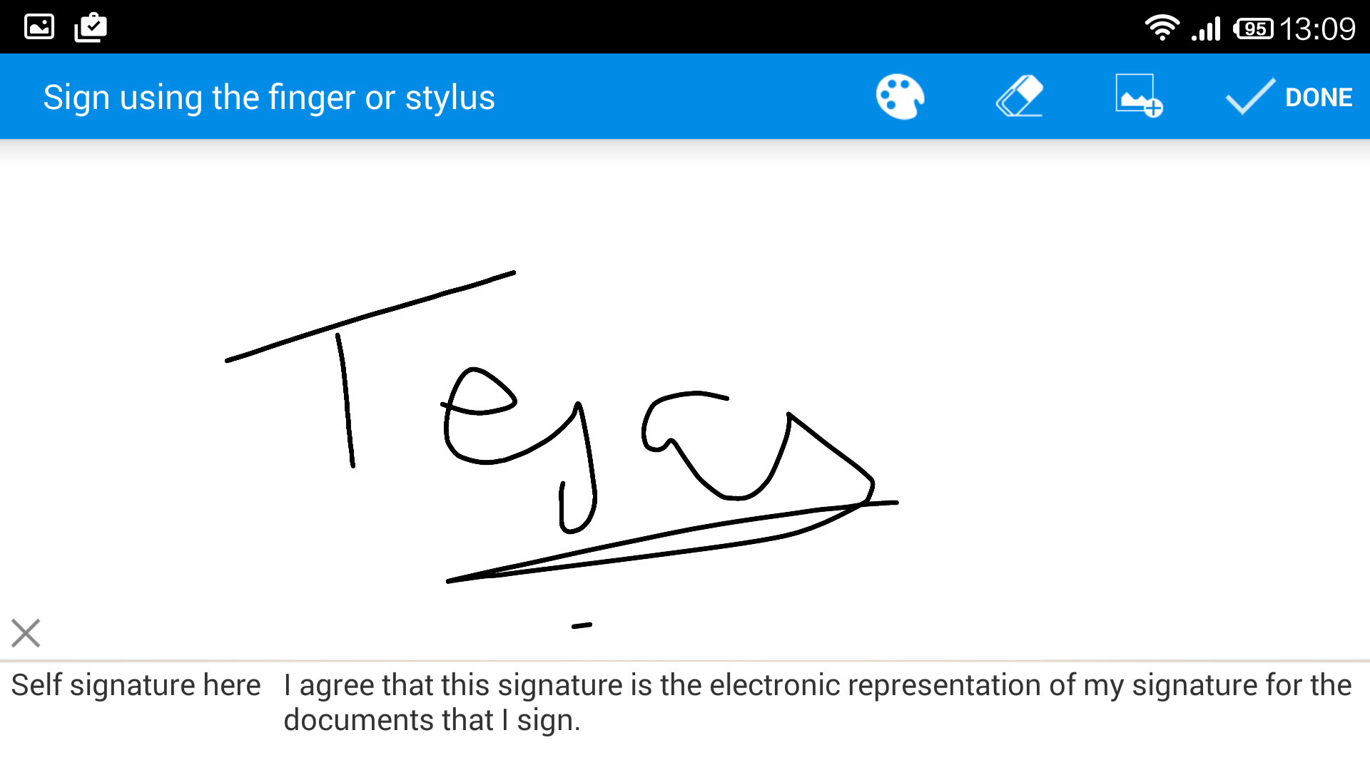 Draw Signature using finger or stylus