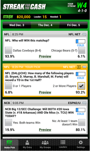 ESPN Streak for the Cash