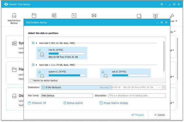 EaseUS Todo Backup Best backup software for Windows