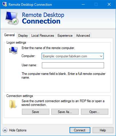 Enable Remote Desktop in Windows