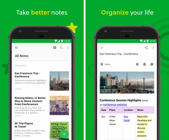 Evernote Apps for Google Pixel 3 and Pixel 3 XL