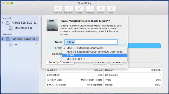 Failed to Copy Files to Pen Drive on Mac