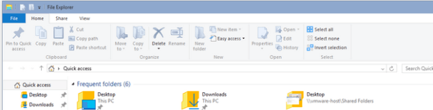 File Explorer Windows 10 Quick Access