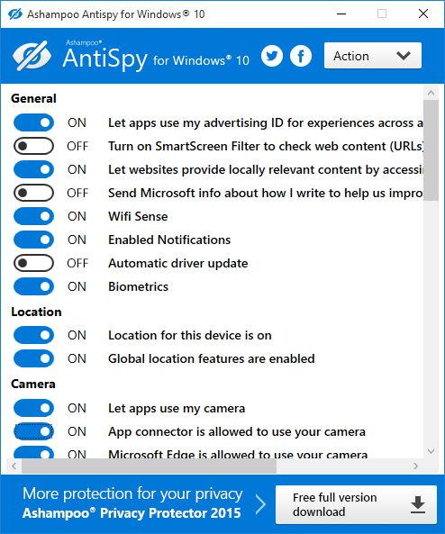Fix Windows 10 privacy issues to secure PC using these software