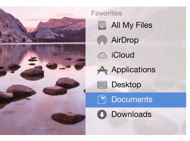 Flat UI of Yosemite