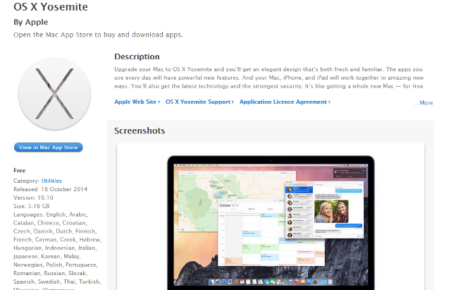 Free Install OS X Yosemite on Mac