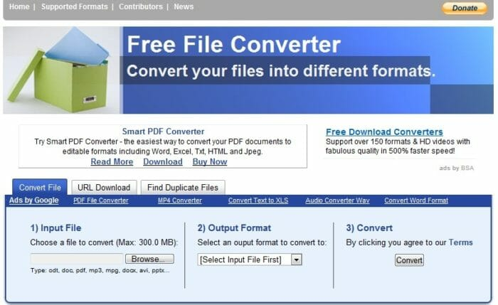 FreeFileConverter, online, free, conversion tool