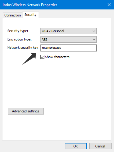 Get saved Wifi password in Windows