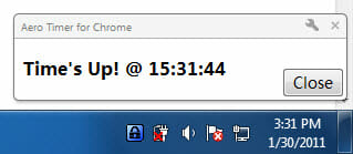 Google Chrome Timer desktop notification