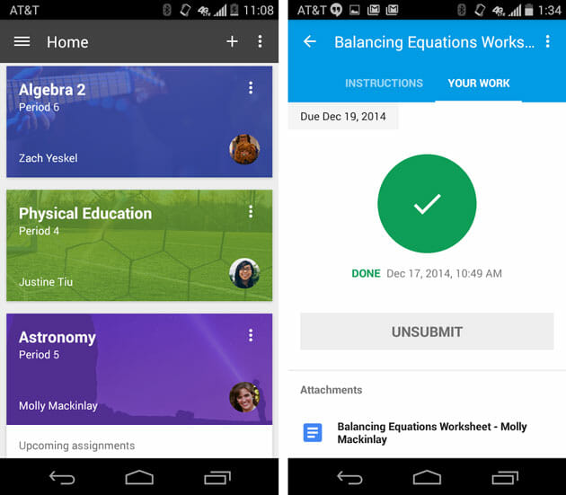 Google-Classroom-for-Android