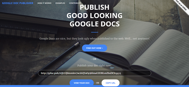 google doc publisher