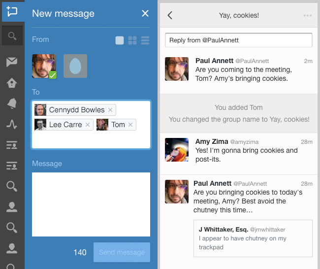 Group Direct Messages in Twitter