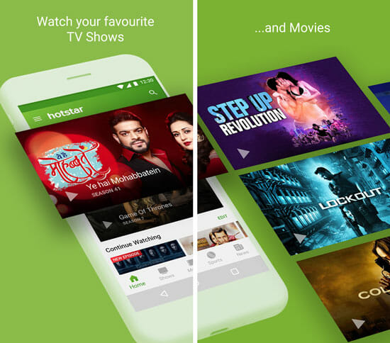 Hotstar Best Android Apps to Watch Movies and TV Shows