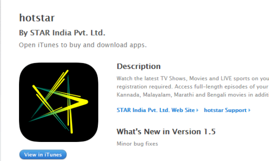 Hotstar app download for iOS