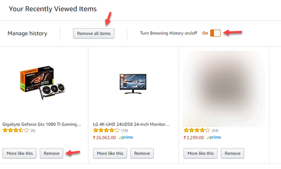 How To Clear Amazon Search History And Amazon Prime Watch
