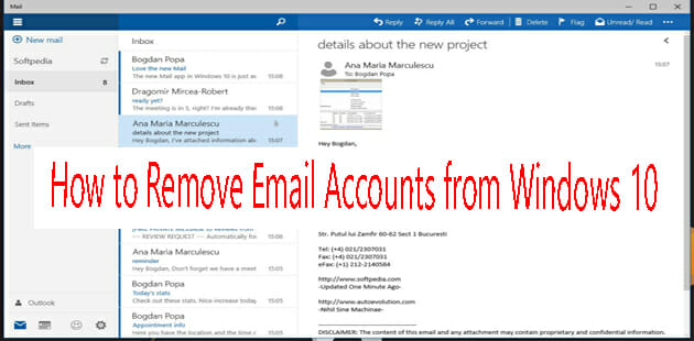 How to Remove Email Account from Windows 10 Mail App